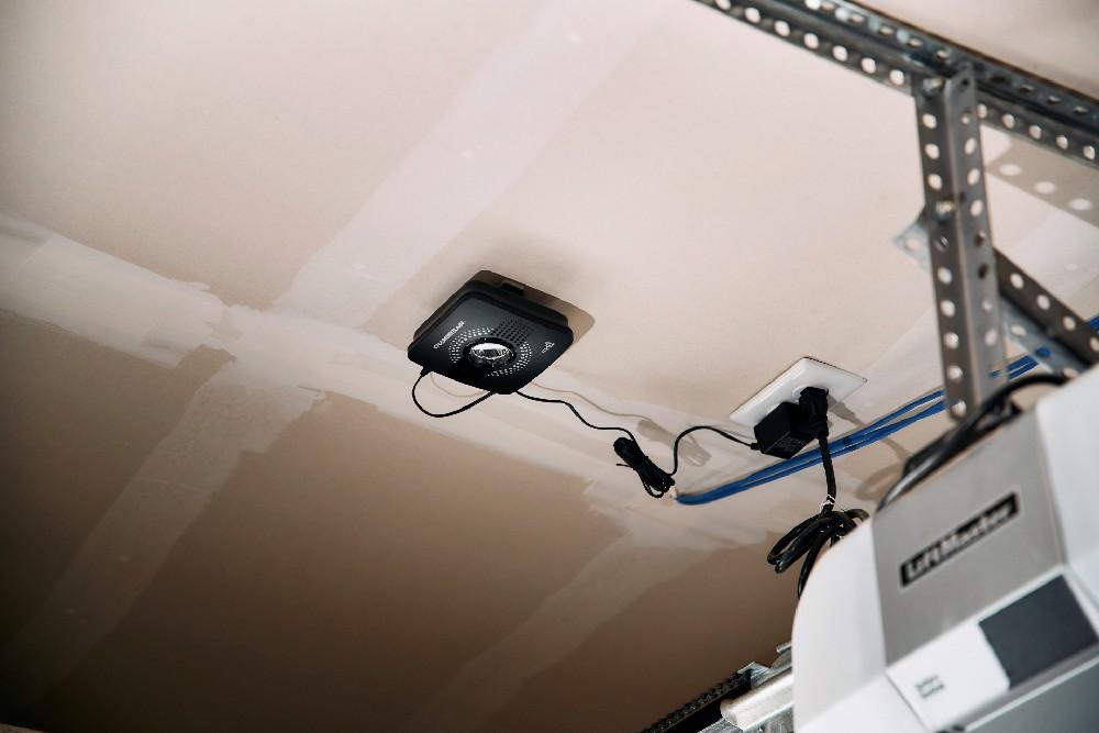 garage door controller in garage