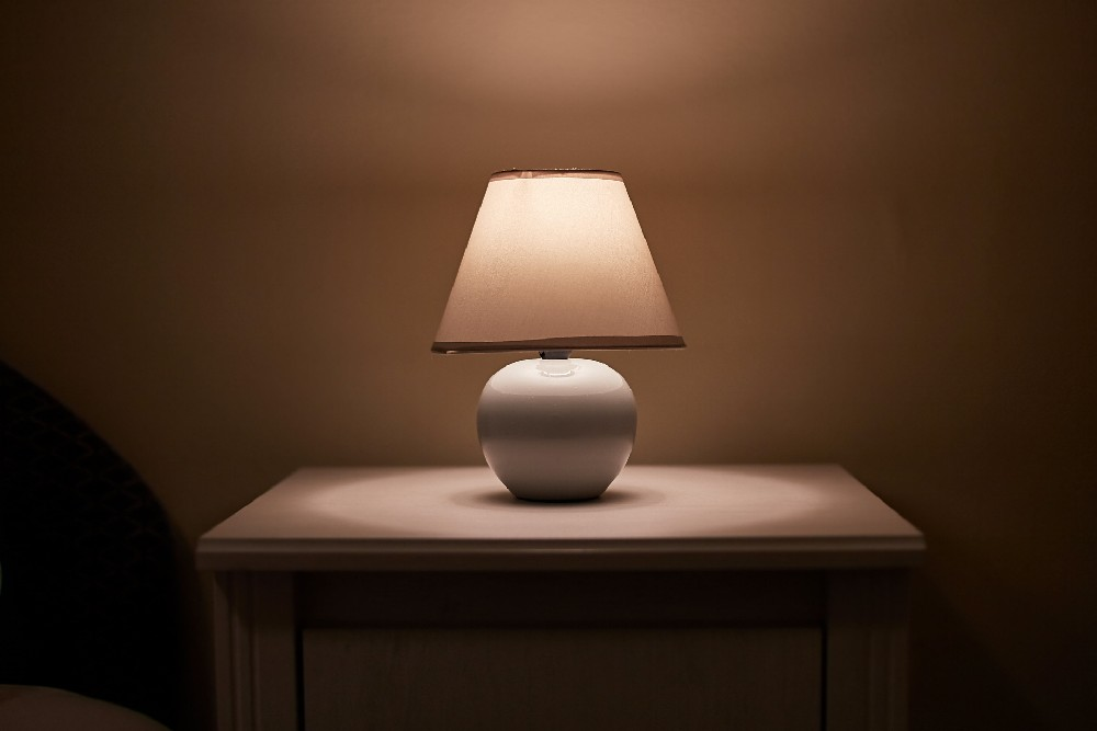 lamp on night stand