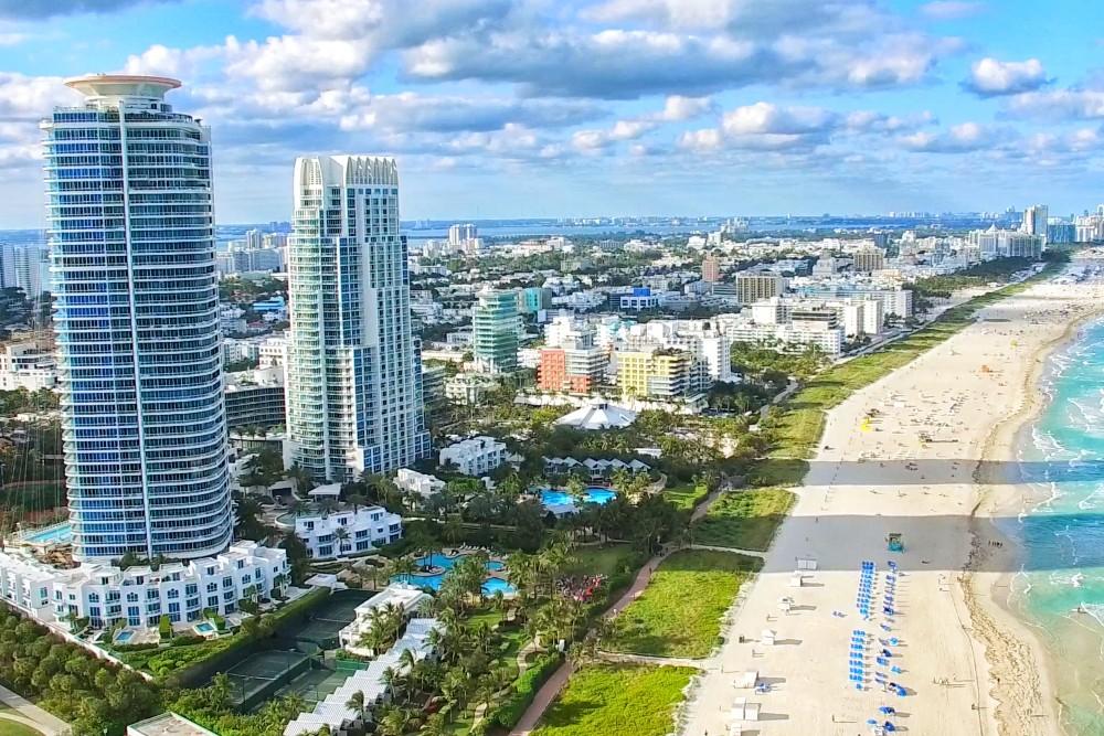 Miami beach and buildings