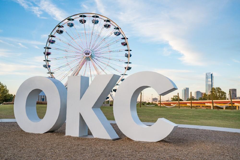 Oklahoma city sign