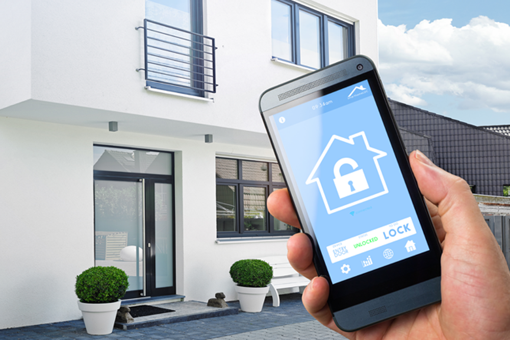 security app with home in background