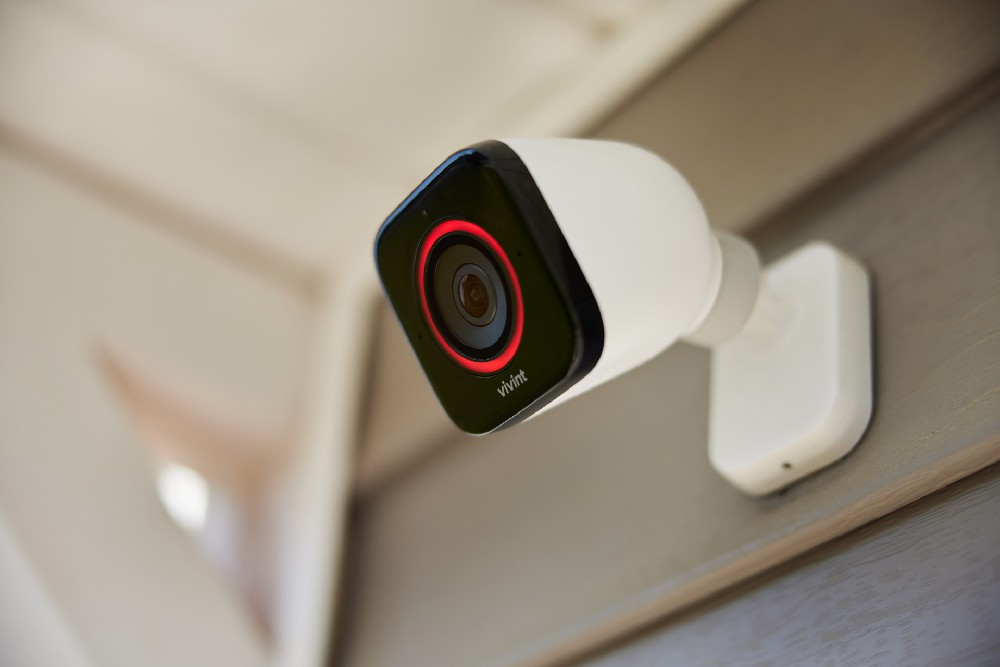 view of outdoor camera mounted