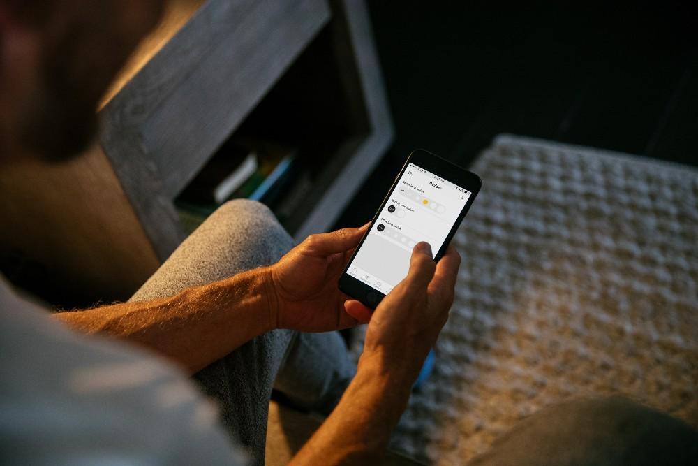 Vivint App displaying Smart Lighting Controls