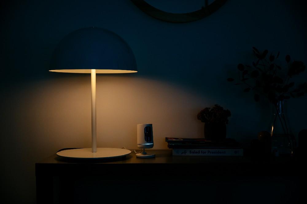 vivint indoor camera with lamp