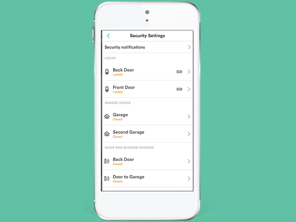 Smart Home App Check Device Status