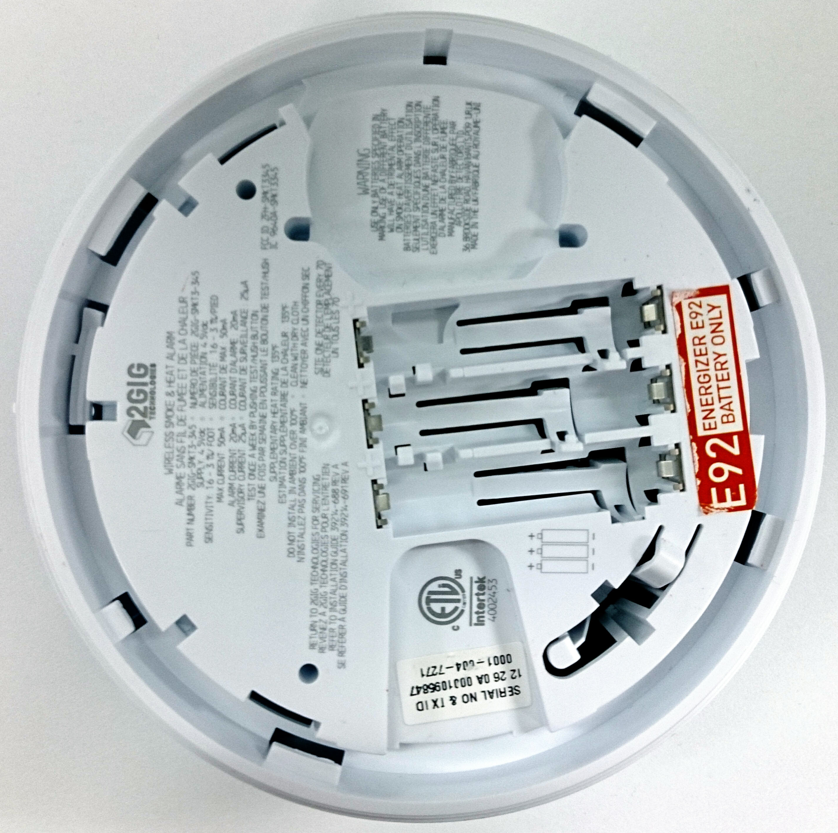 Smoke Detector Smk001 Change Batteries