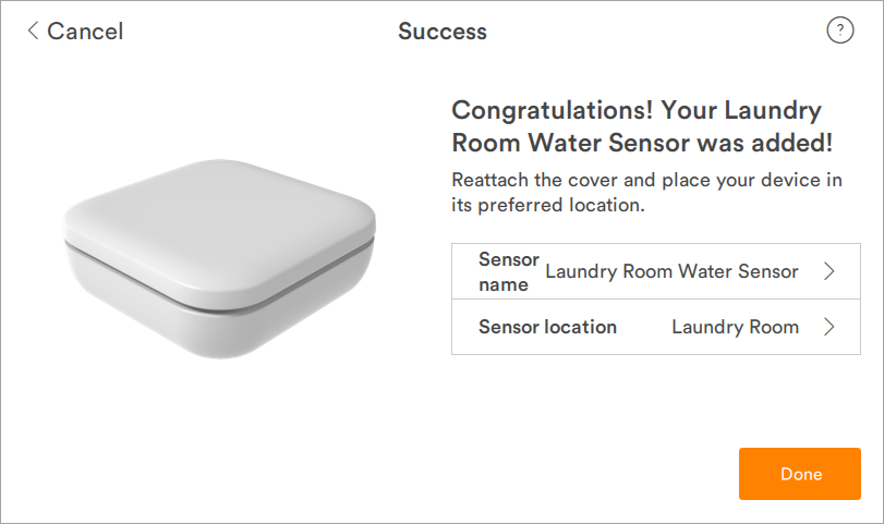 Vivint Water Sensor Installation Guide