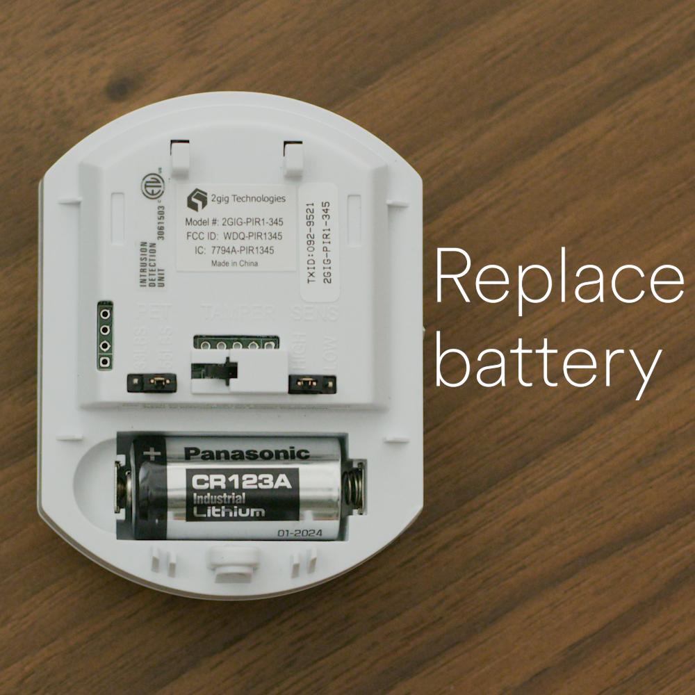 Motion Detector Pir1 Change Battery