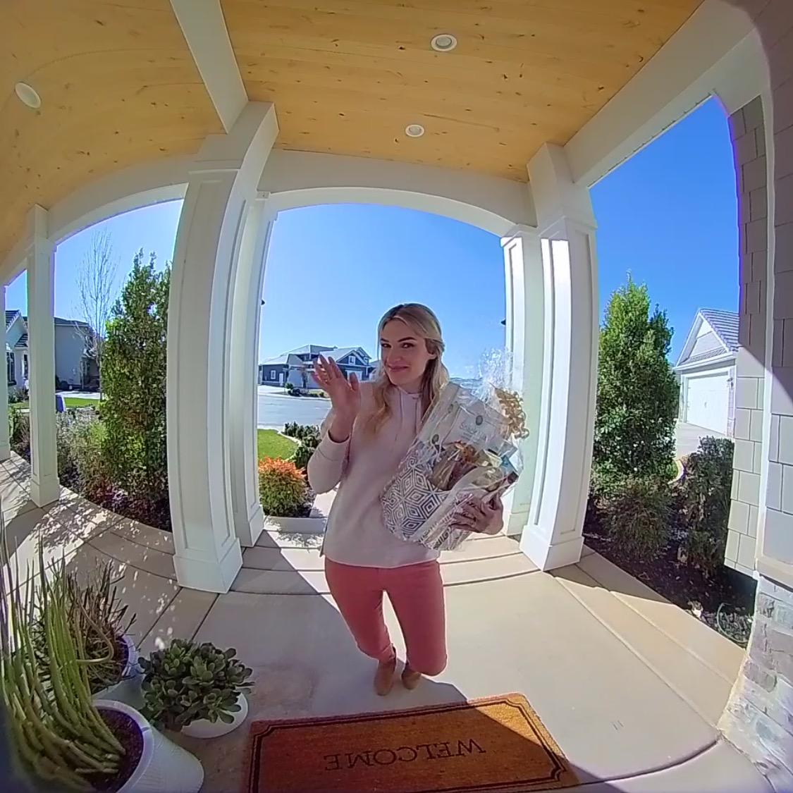 vivint doorbell camera pov woman