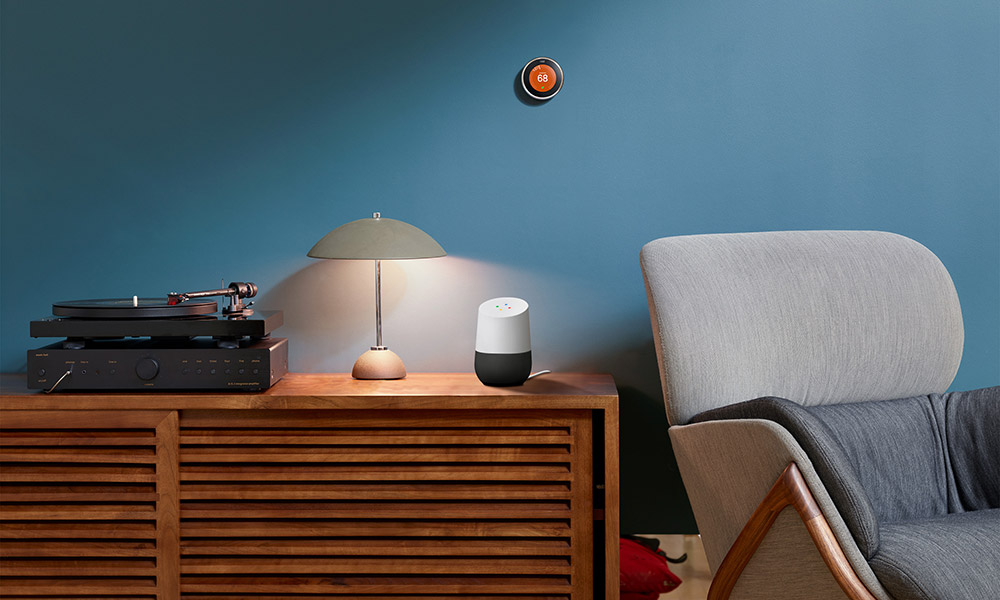 Google Home in bedroom