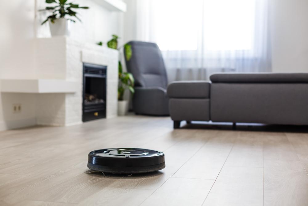 smart vacuum living room